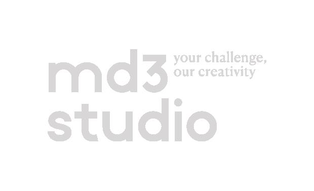 MD3 studio logo